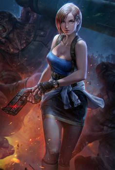 Key Visual for Teppen, jeremy chong - Resident Evil - ArtStation – Key Visual for Teppen, jeremy chong - Valentine Resident Evil, Resident Evil Girl, Resident Evil 3 Remake, Chica Fantasy, Fantasy Girl, Video Game Characters, Female Characters, Evil Games, Evil Art