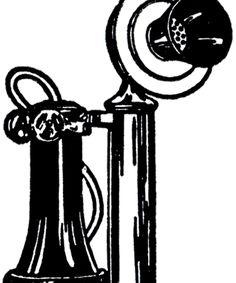 Old Fashioned Telephone Image!