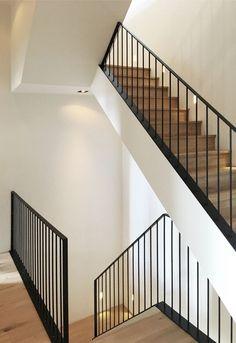 Gallery of Monastery House / Bureau Fraai – 5 - Home & DIY Stair Railing Design, Staircase Railings, Spiral Staircases, Grand Staircase, Entry Stairs, House Stairs, Flooring For Stairs, Balustrades, Hallway Designs