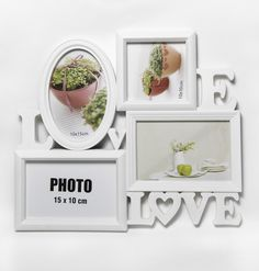 White 4 Inserts Picture Frames