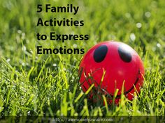 How do you respond when your daughter confides she's upset about something at school? Are you in a hurry when your son needs to chat about how he's nervous about playing in the game tonight? Or are you listening and responding? {5 Family Activities to Express Emotions.} #awesomelyawake #mindful #emotions