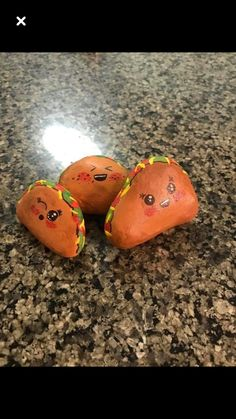 Painted rocks Tacos