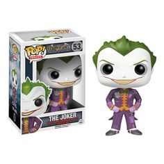From the hit video game Batman: Arkham Asylum comes new Funko POP Vinyl Figures! Kick start your Pop! Vinyl collection with this pint-sized evil maniac, The Joker! This Pop depicts Joker's image as seen in Arkham Asylum, so don't miss out! Le Joker Batman, Joker Pop, The Joker, Funko Pop Batman, Gotham Batman, Batman Art, Batman Robin, Joker Nurse, Joker Clown