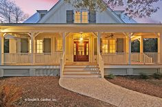 The Gloucester house plan 1188 built by Jackson Construction, LLC! Style At Home, Country Style House Plans, Country Style Homes, Southern Living House Plans, Dream House Exterior, Dream House Plans, House Floor Plans, My Dream Home, Dream Houses