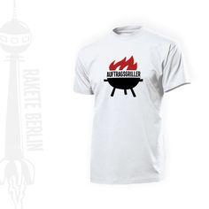 T-Shirt 'Auftragsgriller' von RaketeBerlin auf DaWanda.com