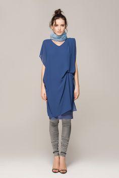 Double layered chiffon dress - FrontRowShop