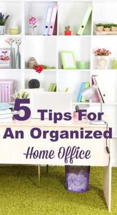 5 tips for an organized home office that is functional and free of paper clutter #ad