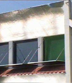 Izgled reflektujućih panela na prozorima