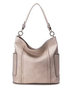 Take a look at this Beige Braid-Trim Hobo today!