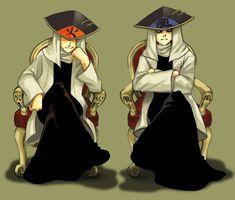 Naruto and Gaara. Hokage and Kazekage