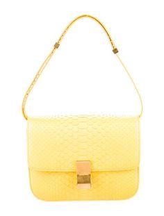 Céline Python Box Bag