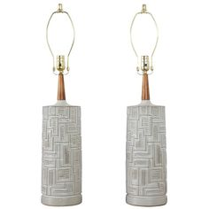 Pair of Vintage Midcentury Ceramic Table Lamps | From a unique collection of antique and modern table lamps at https://www.1stdibs.com/furniture/lighting/table-lamps/