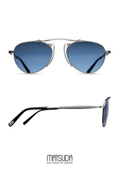 47ffeae4b2bc Matsuda | Sun Collection | M3036 | offers an aviator shape sunglass with a  pince-