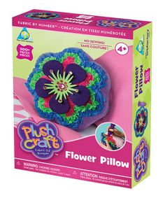 Crafty cuties can create a fanciful, floral pillow with this no-sew kit. Simply follow the craft-by-number instructions explaining fabric and jewel placement for a home accessory that mom and child will cherish.