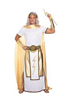 Zeus costume greek god costume poseiden pinterest greek god dreamgirl mens zeus costume whitegold x large dreamgirl solutioingenieria Images