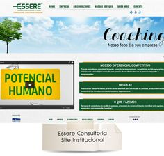 Desenvolvimento Layout do site Essere, antes da alteração. (Pela metamorfose Digital)  http://www.essereconsultoria.com.br/