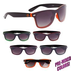 Iconic all-time favorite frames! UV Protective Lenses Size: One size fits most. Your price includes a one-color imprint on one temple. Premium Brands, One Color, Lenses, Temple, Cool Style, Frames, Printed, Sunglasses, Logo