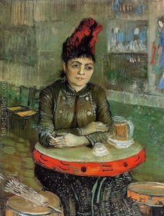 Woman in the 'Cafe Tambourin' Vincent Van Gogh Reproduction | 1st Art Gallery
