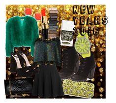 """new years 2015"" by tomatomunchkin751 on Polyvore featuring Salvatore Ferragamo, Steve Madden, Miu Miu, BP., Yves Saint Laurent, Bobbi Brown Cosmetics, Urban Decay, Nails Inc., Ashish and Versus"