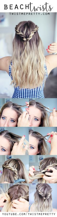 Love these cute beach twists, they make a the perfect summer hairstyle!