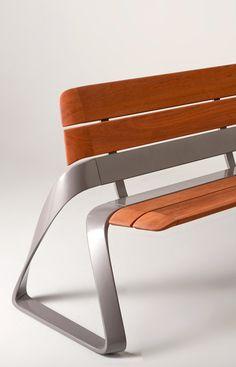 Metal & wood bench by BMW Designworks USA [