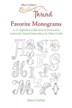 A collection of 16 complete monogram alphabets perfect for hand embroidery and other crafts.Each letter has been carefully traced into clean line drawings that can be resized (enlarged or reduc...