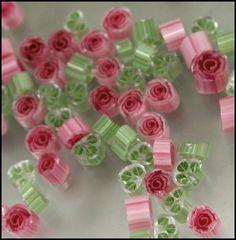 Murrini Pink Rose Garden -SRA-. $14.50, via Etsy.