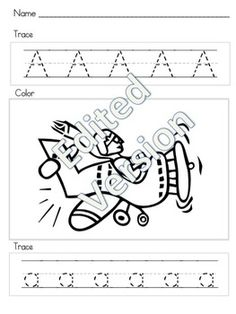 $1 - Alphabet Tracing - Editable - 26 pages in one! You create it . You save money!