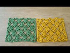 Chunky Crochet, Filet Crochet, Crochet Stitches, Easy Knitting Patterns, Knitting Designs, Crochet Baby Sweaters, Diy Crafts Crochet, Pineapple Crochet, Ribbon Art