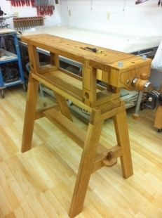 Traveling Workbench - Homemade traveling workbench constructed from lumber.