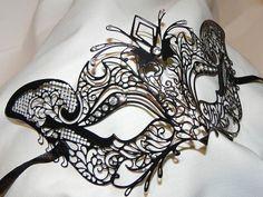 Petite+Black+Metallic+Masquerade+Mask+by+TheCraftyChemist07,+$55.00