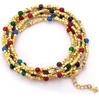 Betty Carre Gold-Plated Multiple Gemstone Bead Wrap Bracelet$108.75More details