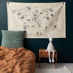 Carte du monde en coton - Le Petit Florilège - Enfants