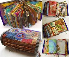 Textile journals by Ro Bruhn - teaches AQC in Melbourne.