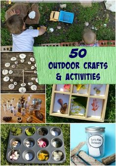 Creative projects and unique activities that will get the kids excited to be outside!