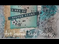 Art Journal Page-Sea of Silver Stars | Imperfect Impulses with Aaron