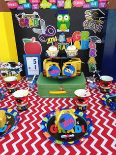 Colorful Kindergarten Graduation!  See more party ideas at CatchMyParty.com!