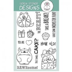 Gerda Steiner Designs Clear Stamps - Monster