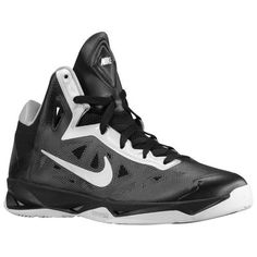 Nike+Basketball+Shoes | Nike Zoom Hyperchaos Men's Basketball Shoes Black/White/Metallic ...