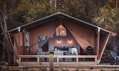 Safari Tents NZ – See   Stay   Dream Tents, Glamping, New Zealand, Safari, Shed, Outdoor Structures, Cabin, Luxury, House Styles