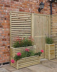2 Piece Olivia Wood Trellis Freeport Park Set: Set of Orientation: Vertical Wood Trellis, Garden Trellis, Trellis Fence, Planter Garden, Trellis Ideas, Privacy Trellis, Privacy Planter, Diy Trellis, Small Garden Fence Panels