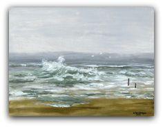 Acryl/Leinwand 30 cm x 40 cm x 1,5 cm Preis auf Anfrage  Bewegtes Meer
