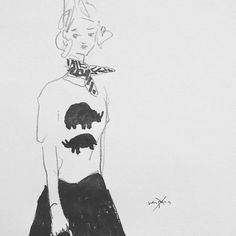 #illustration #fashion #shirt #blackandwhite #usupera