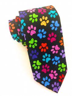 Paw Print Multi Coloured Tie   #VanBuck #Tie #NeckTie #Ties #Rainbow #Novelty #Colourful #Accessories #MensAccessories #PawPrint #AnimalLover #VetTie #DogLoverTie #PawTie #FabTies  http://www.fabties.com/ties/novelty-ties/paw-print-multi-coloured-tie.html