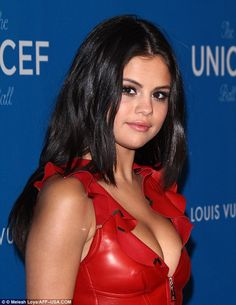 Selena Comez - Hell for leather: She flashed her sideboob as she posed at the charitable ball