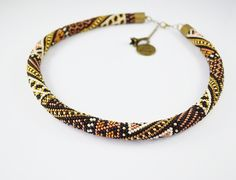 Free Shipping ! Jewelry, Necklaces, Beadwork, Necklace, bead crochet rope - patchwork necklace - pinned by pin4etsy.com