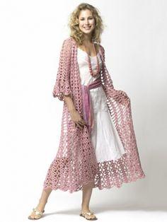 Lacy Duster | Yarn | Free Knitting Patterns | Crochet Patterns | Yarnspirations