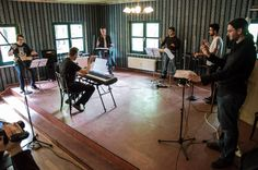 Conducting a Theremin chamber music group during the Theremin Spring Academy 2014 in Leipzig