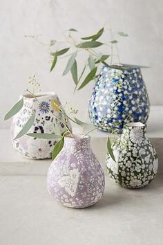 Vases en céramique Anthropologie via Nat et nature