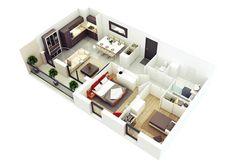 แปลนบ้านฟรี 2 ห้องนอน